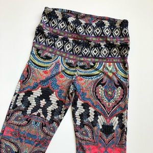Onzie Pants - Onzie printed flare pants leggings